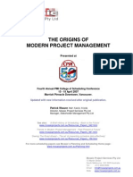 The Origins of Modern Project Management