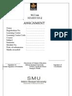 MCC 204 Assignment Winter 2012