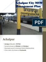 Achalpur City Waste Management Plan