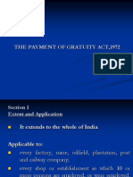 The Payment of Gratuity Act,1972