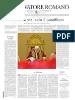 Osservatore Romano 11 12 02 2013
