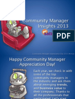 Community Manager Insights 2013