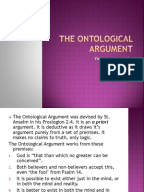 ontological argument for the existence of god essay