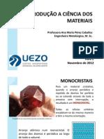 Introdução a ciência dos materiais Aula 2