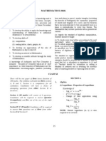 18 ISC Mathematics Syllabus