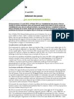 Rapport 2012 Intrum Justizia sur l'endettement des jeunes