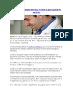 Como los uniformes médicos afectan la percepción del paciente