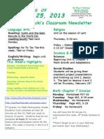 February 25 Newsletter