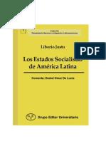 Liborio Justo - Los Estados socialistas de América Latina