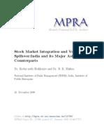 Working Paper MPRA Volatility Spillover Kedar