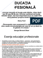 6.EDUCATIA PROFESIONALA