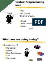 1-Object Oriented Programming Development-University of Luton