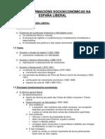 AS TRANSFORMACIÓNS SOCIOECONÓMICAS NA ESPAÑA LIBERAL esquema CLARO