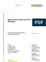 Study on Rare Earths and Their Recycling