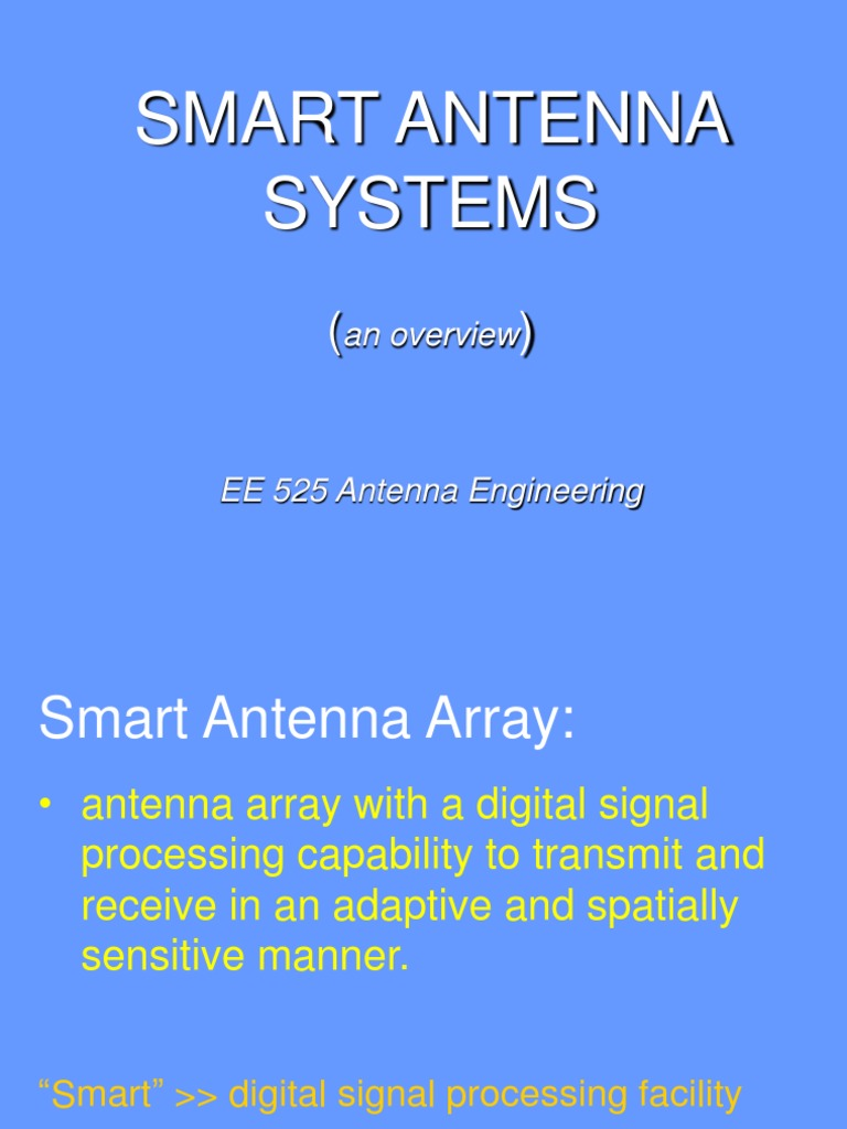 Ppt on smart antennas - Ppt On Smart Antennas 4