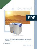 Manual de instalación y mantenimiento Rotártica