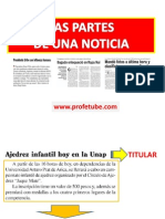 La Noticia y Sus Partes