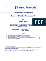 Demanda de Dinero y Politica Monetaria
