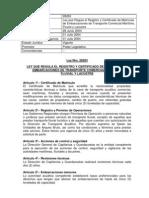 04 Ley 28263 Registro y Certificado de Matricula de Embarcaciones de Transporte Comercial Maritimo Fluvial y Lacustre