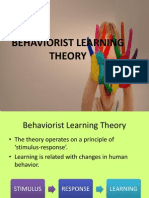 Behaviorist Learning Theory