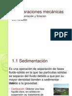 I. Sedimentación y filtración
