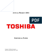 Financial Analysis for Toshiba