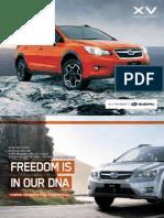 My13 Subaru Xv Brochure
