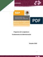 Fundamentos de Administracion PD ADM 300511