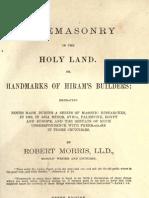 Freemasonry in the Holy Land - r Morris