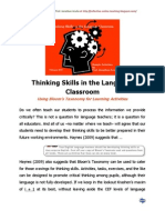 Thinking Skills in the Language Classroom