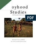 Boyhood Studies Bibliography