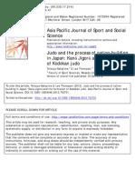 Tetsuya Nakajima & Lee Thompson - Judo and the Process of Nation-building in Japan