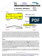 Wing Geometry Definitions