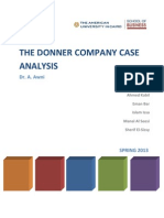The Donner Company Case Analysis V0R1_Template 1