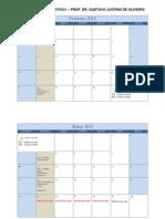 Calendario Direito Administrativo I - Prof Dr Gustavo Justino- 1osem 2013
