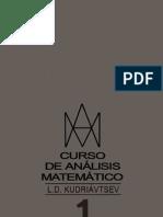 Curso de Analisis Matematico Editorial Mir Tomo I - Kudriavtsev - En Español