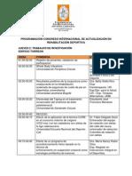 PROGRAMACIÓN OFICIAL CONGRESO INTERNACIONAL DE ACTUALIZACIÓN EN REHABILITACIÓN DEPORTIVA