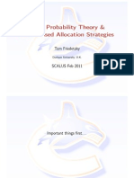 Basic Probability Theory and Randomised Allocation Strategies
