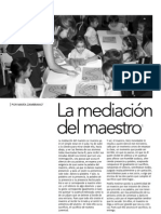 Zambrano, María - La mediacion del maestro