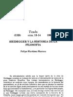 MARZOA - Heidegger y La Historia de La Filosofía