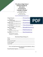 12-13 woodlawn high school handbook