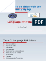 PHP (Tema 2) - Lenguaje PHP Básico