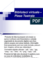 Biblioteci virtuale – Piese Teatrale