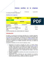 NTP 458 Primeros Auxilios en La Empresa Organizacion