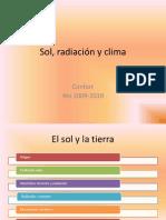 Sol, radiación y clima