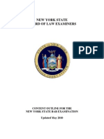 NY Bar Official Content Outline (Revised May 2010)