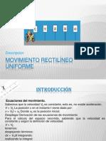 Movimiento Rectilineo Uniforme 1 FISICA