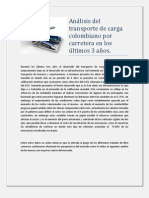 Análisis del transporte de carga por carretera