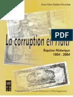 LA CORRUPTION EN HAÏTI - Esquisse historique
