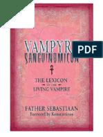 Vampyre Sanguinomicon - The Lexicon of the Living Vampire